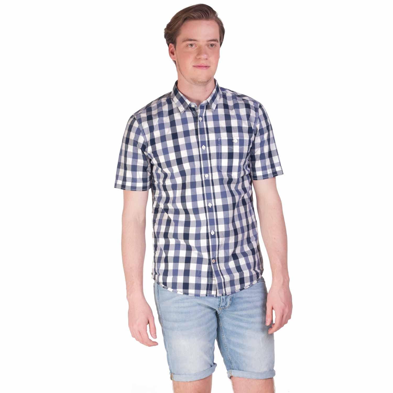 Schoudertasje Voor Heren : Tom tailor overhemd ray voor heren donker blauw